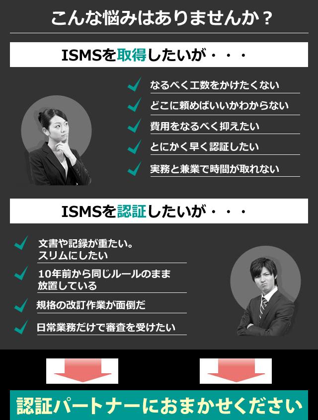 ISMS新規認証&運用代行 月々たったの2.5万円で全ての作業を代行します!ISMS専門15年・7000社以上の実績